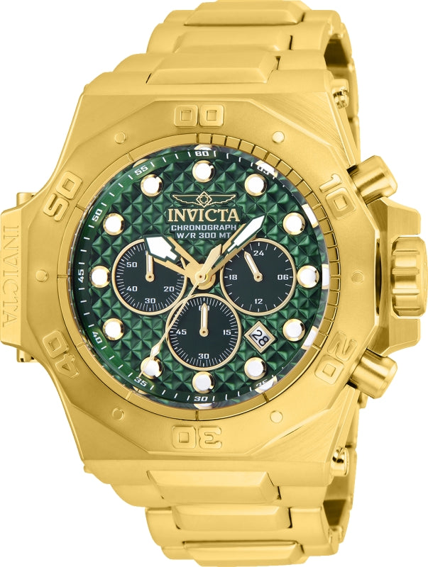 Invicta Men's 26042 Akula Quartz Chronograph Green Dial Watch