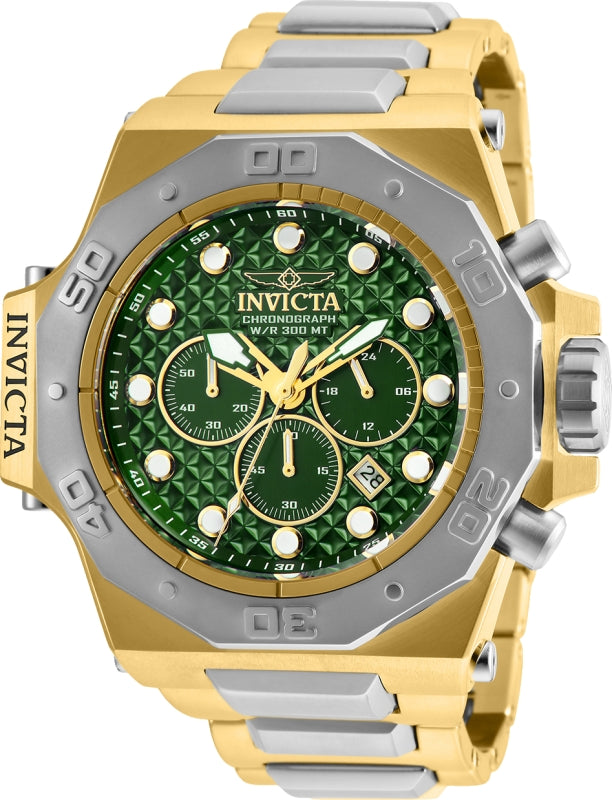 Invicta Men's 26044 Akula Quartz Chronograph Green Dial Watch