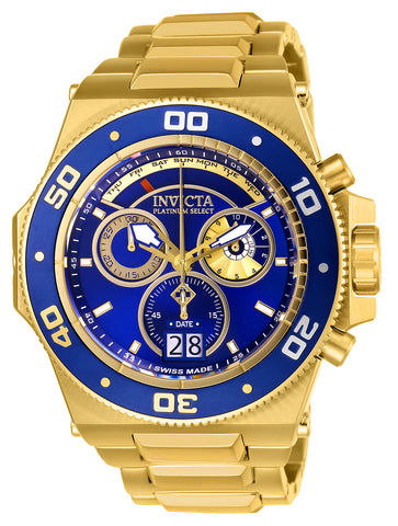 Invicta Men's 26050 Akula Quartz Chronograph Blue, Gold Dial Watch
