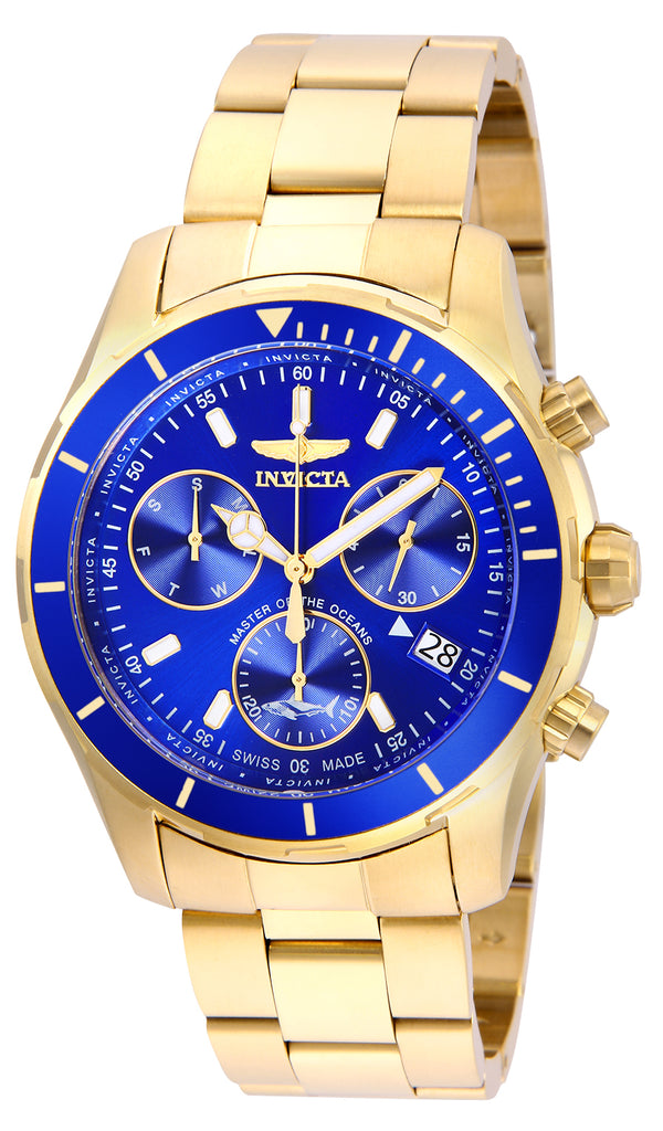 Invicta Men's 26056 Pro Diver Quartz Chronograph Blue Dial Watch