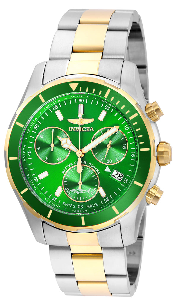Invicta Men's 26059 Pro Diver Quartz Chronograph Green Dial Watch