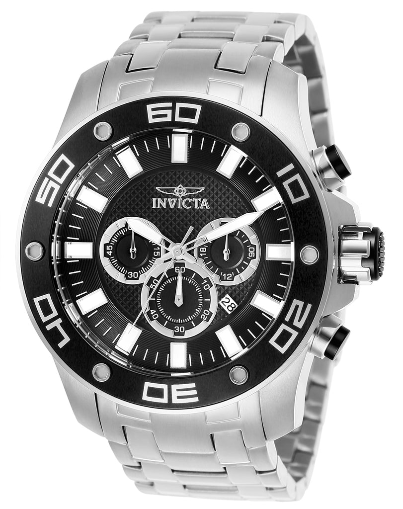 Invicta Men's 26074 Pro Diver Quartz Chronograph Black Dial Watch