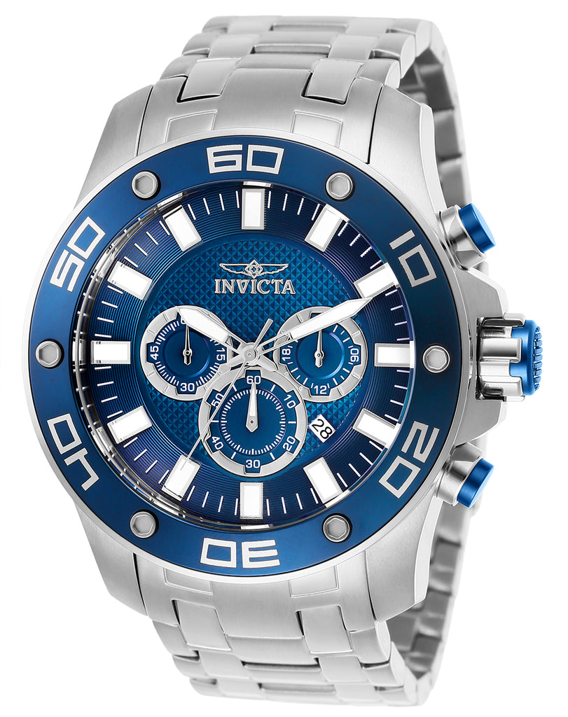 Invicta Men's 26075 Pro Diver Quartz Chronograph Blue Dial Watch