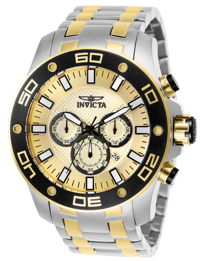Invicta Men's 26080 Pro Diver Quartz Chronograph Gold Dial Watch