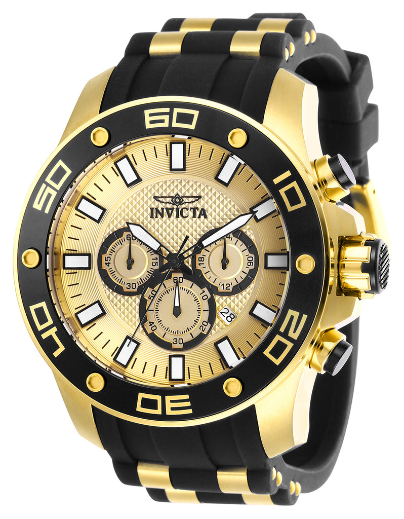 Invicta Men's 26088 Pro Diver Quartz Chronograph Gold Dial Watch