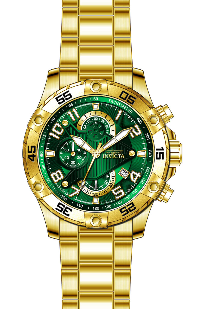 Invicta Men's 26096 S1 Rally Quartz Multifunction Green Dial Watch