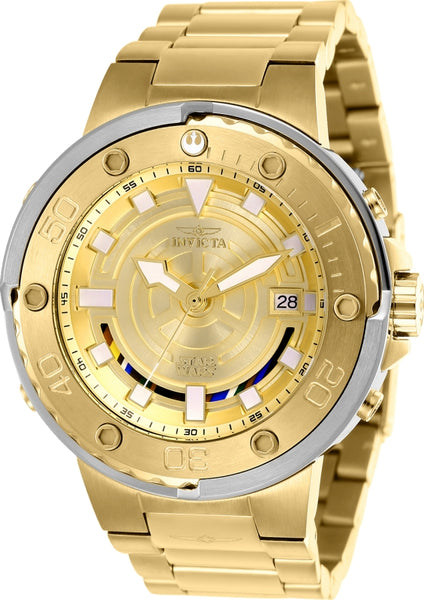 Invicta  Men's 26114 Star Wars Automatic Multifunction Gold Dial Watch