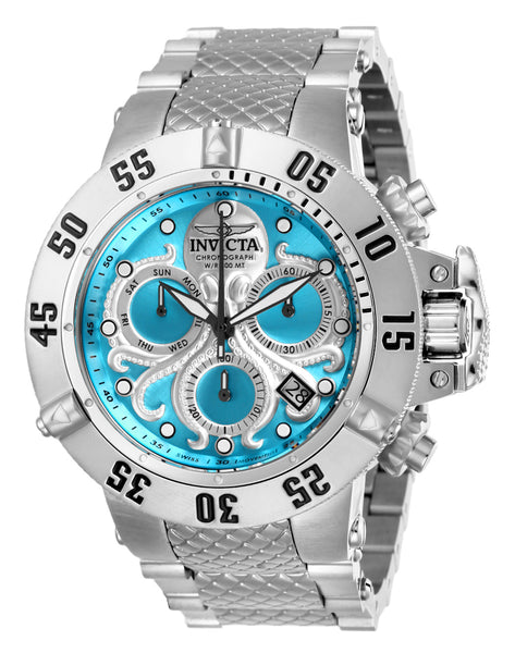 Invicta  Men's 26130 Subaqua Quartz Chronograph Ocean Blue, Silver Dial Watch
