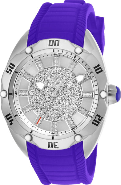 Invicta Women's 26151 Venom Quartz 3 Hand Silver Dial Watch