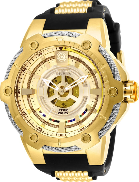 Invicta Men's 26163 Star Wars Automatic Multifunction Black Dial Watch