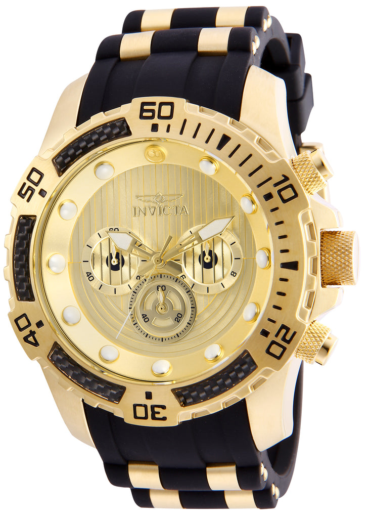 Invicta Men's 26179 Star Wars Quartz Multifunction Gold Dial Watch