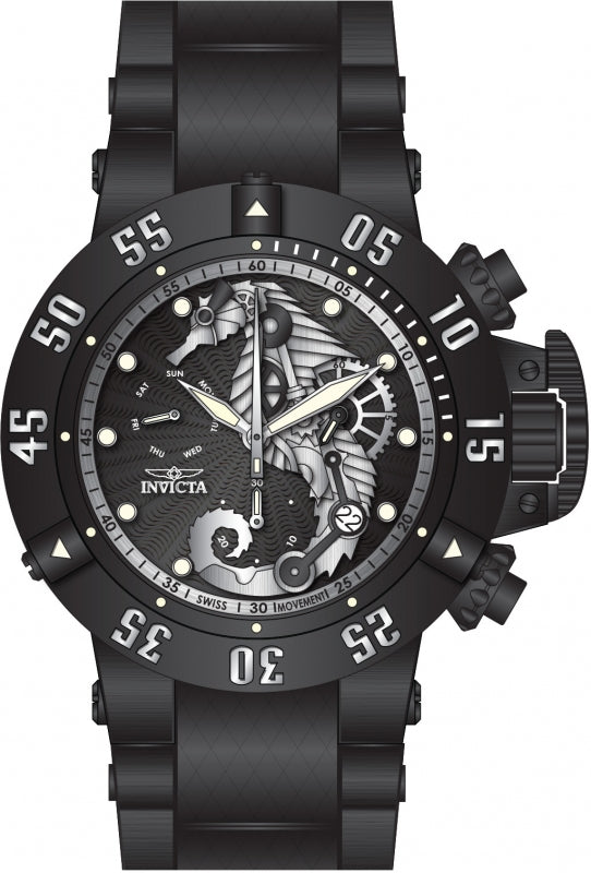 Invicta Men's 26232 Subaqua Quartz 3 Hand Black, Silver Dial Watch