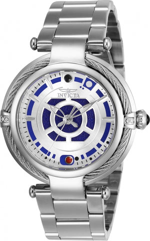Invicta Women's 26234 Star Wars Quartz Multifunction Silver Dial Watch