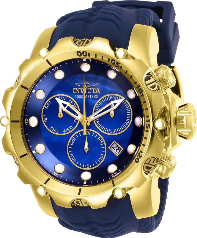 Invicta Men's 26245 Venom Quartz Chronograph Blue Dial Watch