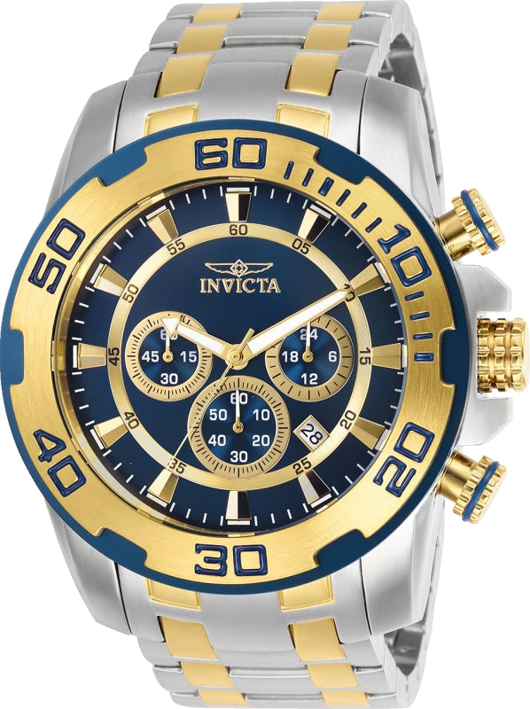 Invicta Men's 26296 Pro Diver Quartz Chronograph Blue Dial Watch