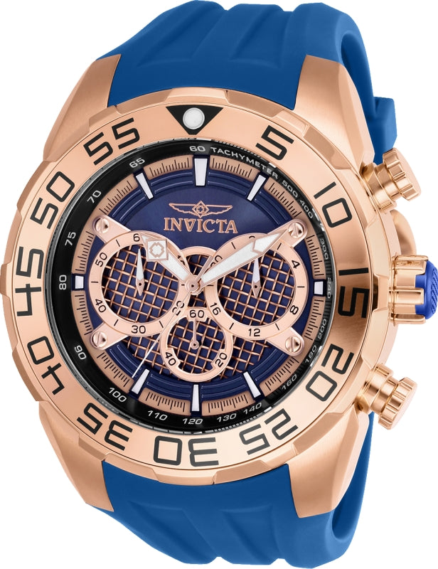 Invicta Men's 26305 Speedway Quartz Multifunction Rose Gold, Blue Dial Watch