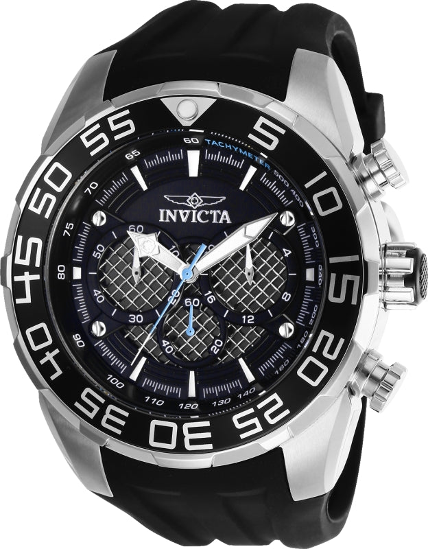 Invicta Men's 26314 Speedway Quartz Multifunction Silver, Black Dial Watch