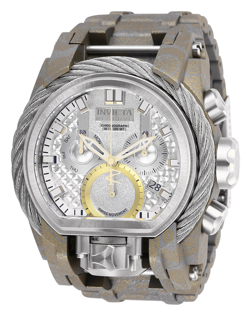 Invicta Men's 26438 Reserve Quartz 3 Hand Silver Dial Watch