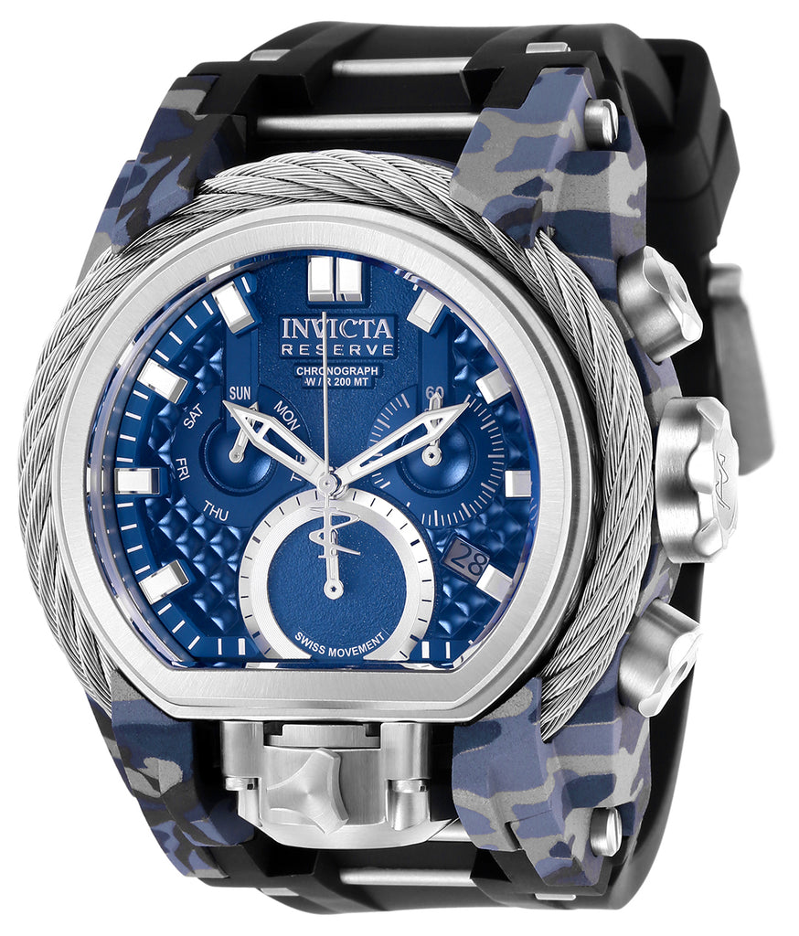 Invicta Men's 26440 Reserve Quartz 3 Hand Blue Dial Watch