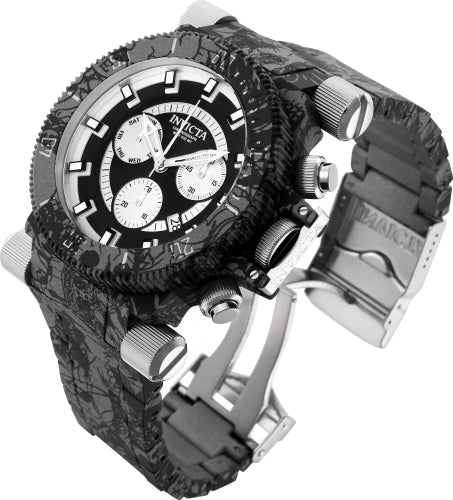 Invicta Men's 26451 Coalition Forces Quartz Multifunction Black, Silver Dial Watch