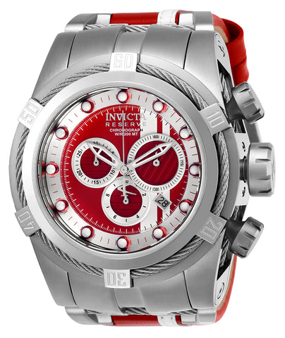 Invicta Men's 26468 Reserve Quartz Chronograph Red, White, Silver Dial Watch