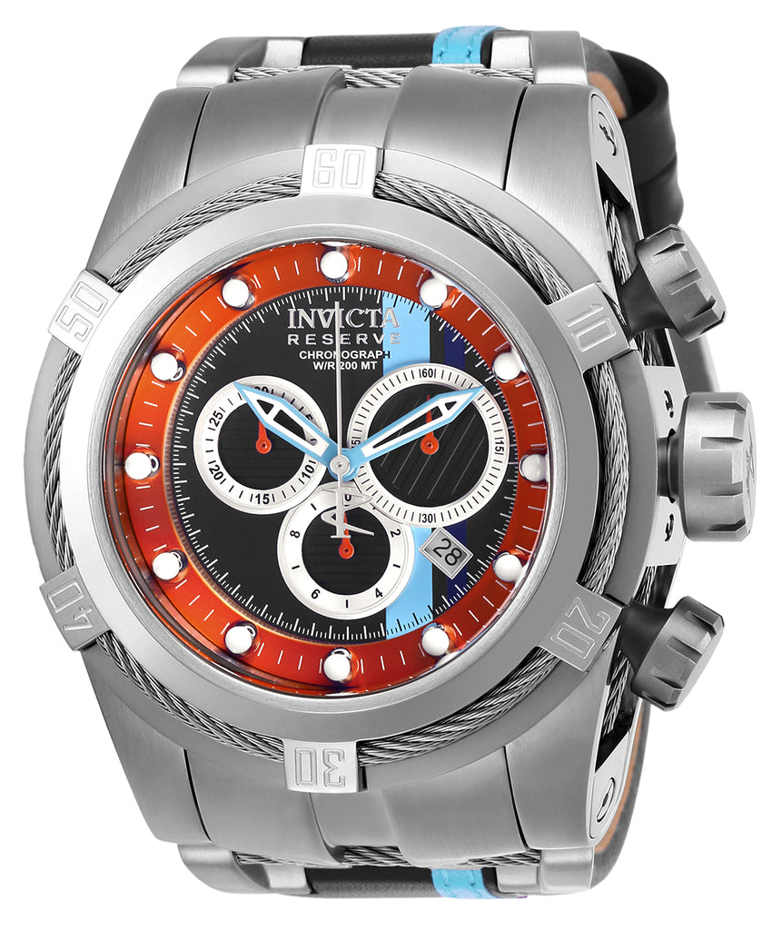 Invicta Men's 26471 Reserve Quartz Chronograph Black, Orange, Ocean Blue, Purple Dial Watch