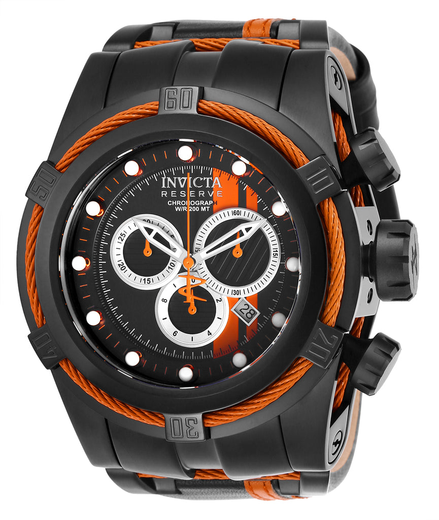 Invicta Men's 26473 Reserve Quartz Chronograph Black, Orange, Silver Dial Watch