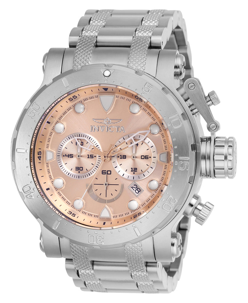 Invicta Men's 26496 Coalition Forces Quartz Chronograph Rose Gold Dial Watch