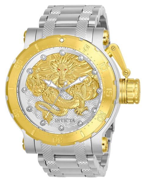 Invicta Men's 26508 Coalition Forces Automatic 3 Hand Silver, Gold Dial Watch