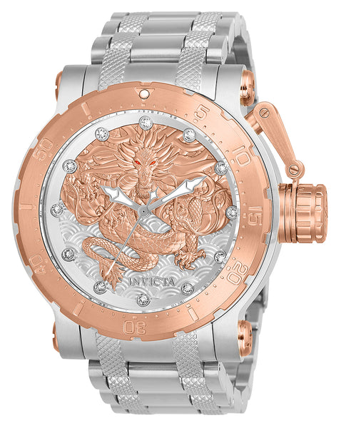 Invicta Men's 26509 Coalition Forces Automatic 3 Hand Silver, Rose Gold Dial Watch