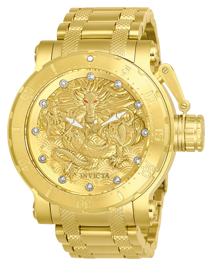 Invicta Men's 26511 Coalition Forces Automatic 3 Hand Gold Dial  Watch