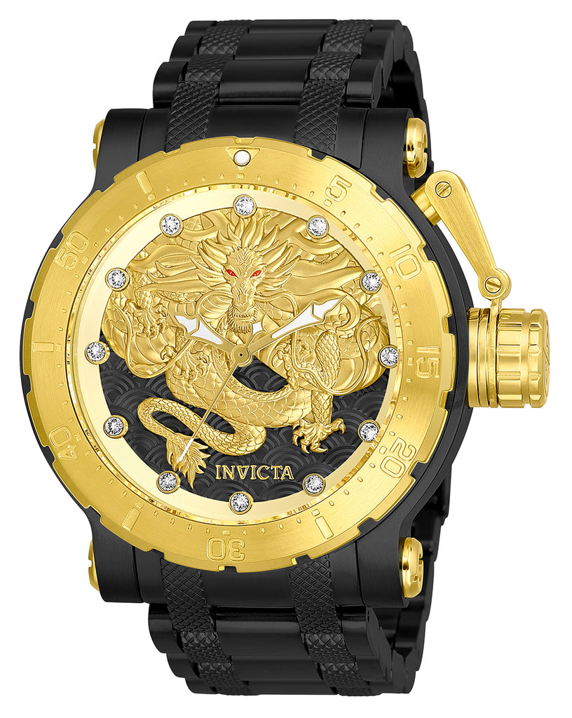 Invicta Men's 26513 Coalition Forces Automatic 3 Hand Black, Gold Dial Watch