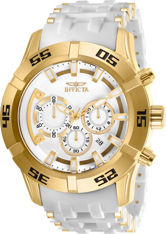 Invicta Men's 26536 Sea Spider Quartz Chronograph White Dial Watch