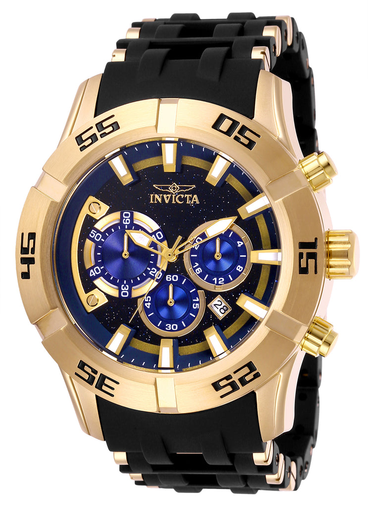 Invicta Men's 26538 Sea Spider Quartz Chronograph Blue Dial Watch