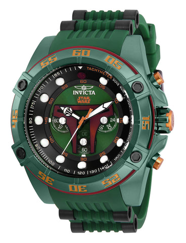 Invicta Men's 26543 Star Wars Quartz Multifunction Green Dial Watch