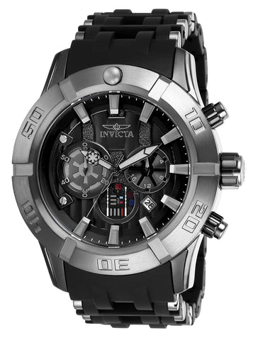 Invicta Men's 26548 Star Wars Quartz Multifunction Black Dial Watch