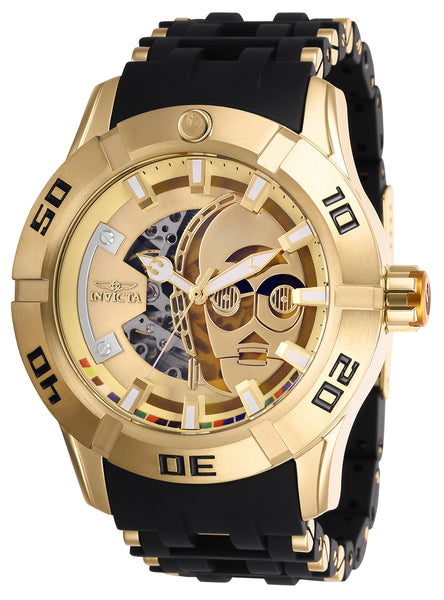 Invicta Men's 26550 Star Wars Automatic 3 Hand Gold Dial Watch
