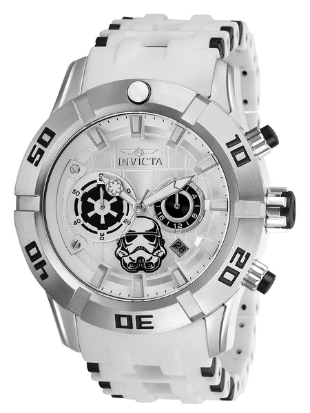 Invicta Men's 26552 Star Wars Quartz 3 Hand Silver Dial Watch