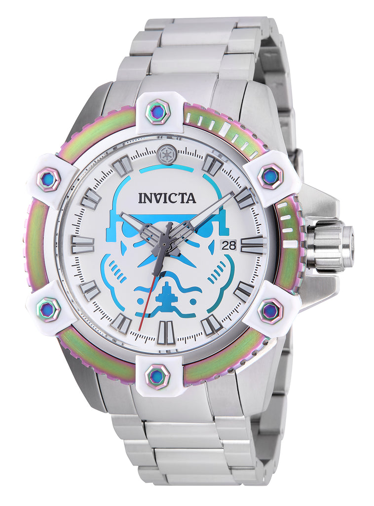 Invicta Men's 26555 Star Wars Automatic 3 Hand White, Iridescent Dial Watch