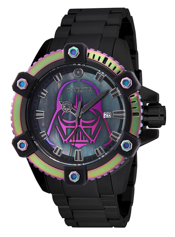 Invicta Men's 26558 Star Wars Automatic 3 Hand Black, Iridescent Dial Watch