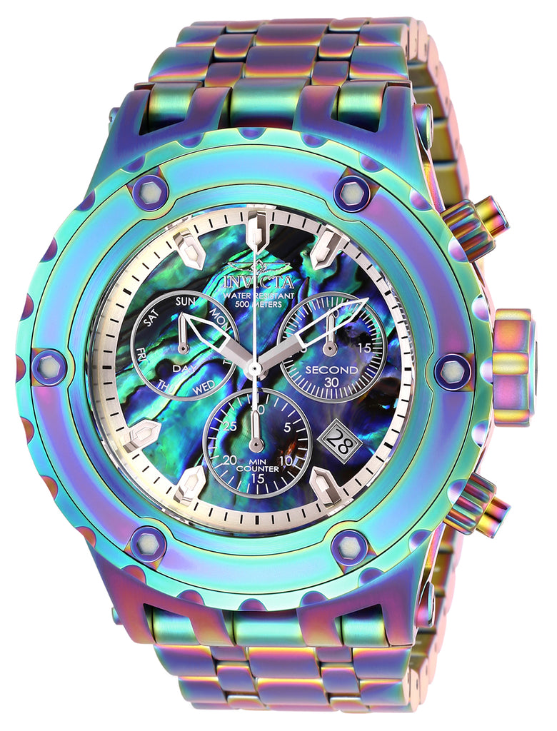 Invicta Men's 26565 Subaqua Quartz Chronograph Blue, Green Dial Watch