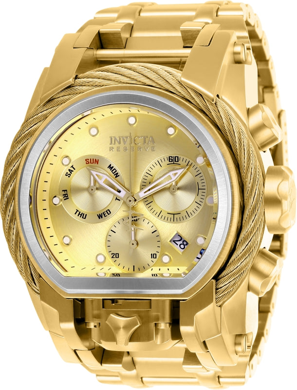 Invicta Men's 26586 Reserve Quartz Chronograph Gold Dial Watch