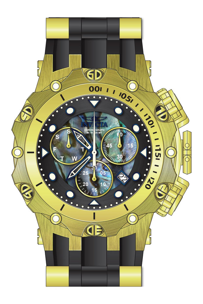 Invicta  Men's 26589 Venom Quartz Chronograph Blue, Green, Black Dial Watch