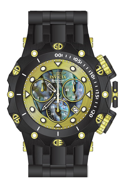 Invicta  Men's 26590 Venom Quartz Chronograph Blue, Green, Gold Dial Watch