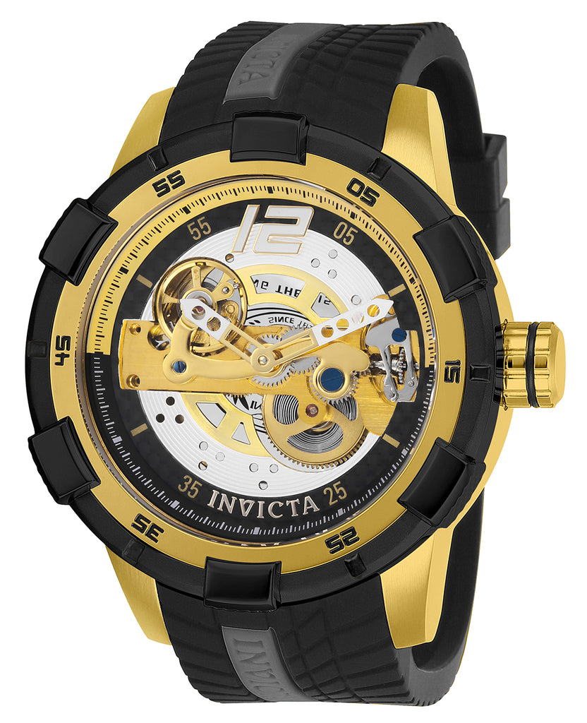 Invicta Men's 26620 S1 Rally Automatic 3 Hand Black Dial Watch