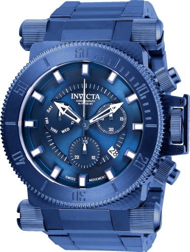 Invicta Men's 26646 Coalition Forces Quartz Chronograph Blue Dial Watch