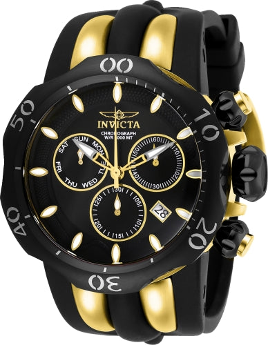 Invicta Men's 26661 Venom Quartz Chronograph Black, Gold Dial Watch