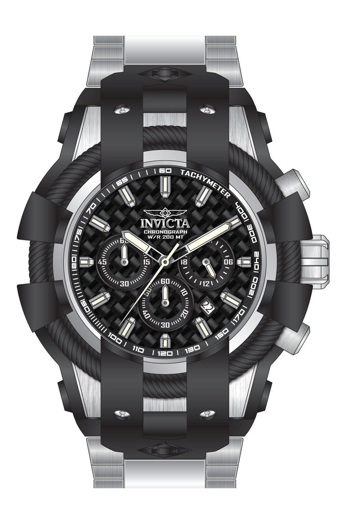 Invicta  Men's 26669 Bolt Quartz Chronograph Black Dial Watch