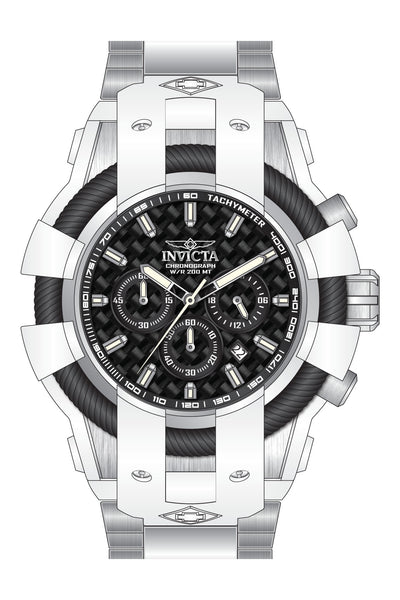 Invicta  Men's 26670 Bolt Quartz Chronograph Black Dial Watch