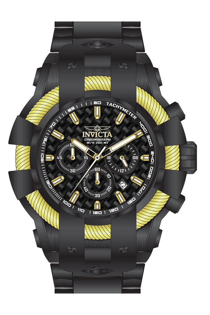 Invicta Men's 26676 Bolt Quartz Chronograph Black Dial Watch